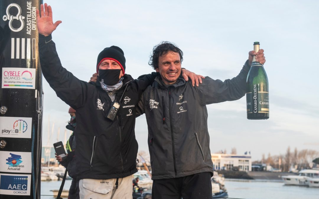 DIDAC COSTA CROSSES 2020 VENDEÉ GLOBE FINISH LINE